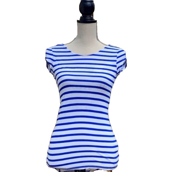 ☀️4/25 Zara Women's Tuxedo-Tail Striped Top